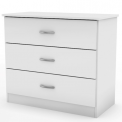 Libra style 3-drawer chest in white