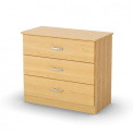 Libra style 3-drawer chest in natural maple