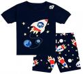Recalled Tkala Fashion children's pajamas – black rocket ship print