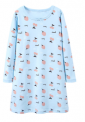 Recalled Booph children's nightgown – long sleeves, blue with strawberries