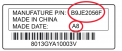Sample label on recalled battery pack showing Manufacture P/N and Made Date