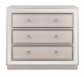 Recalled chest with champagne drawers and mirror finish (Model Number CHS6403A)