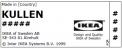 Label on recalled IKEA KULLEN 3-drawer chest