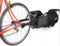 Recalled Ballz QR Skewer installed on bicycle, and attached to Coho XC Trailer