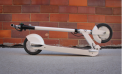 Glion SmartScooter Model 100 White in Folded Position