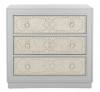 Recalled chest with light gray drawers and light gray linen finish (Model Number  CHS6410B)
