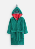 Z_ODRMARK-HGRDINO Green dinosaur robe  100% polyester 1 through 12