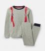 205681-GRYROKTPAK Gray pajama with backpack design  96% cotton 4% elastane 1 through 12