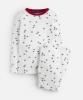 Z_ODRKIPWLL-CREMNVYSTR White pajama with star print  97% cotton3% elastane 1 through 12