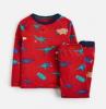 Z_ODRKIPWLL-REDDINO Red pajama with dinosaur print  97% cotton 3% elastane 1 through 12