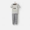 Y_ODRKIPWELL-GRYMARL Gray short sleeved pajama  97% cotton 3% elastane 1 through 12