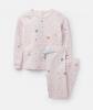 204649-PNKGALAXY Pink striped pajama with planet print  96% cotton 4% elastane 1 through 12