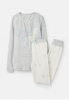 204649-SLVBLVUNIC Gray and white pajama with unicorn print  96% cotton 4% elastane 1 through 12