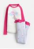Z_ODRSLEPWL-CUNICRN Pink white and blue pajama with unicorn image  97% cotton 3% Elastane 1 through 12