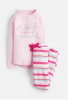 Z_ODRSLEPWL-PAWESME Pink pajama with slogan  97% cotton 3% elastane 1 through 12