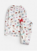 Z_ODRSLEPWL-SKIIDOG White pajama with skiing dog print  97% cotton 3% elastane 1 through 12