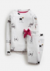 Z_ODRSLEPWL-WHTXMASDOG White pajama with Christmas dog print  97% cotton 3% elastane 1 through 12