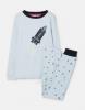 205680-LBLUROCKET Blue pajama with rocket image  96% cotton 4% elastane 1 through 12