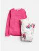 Z_ODRMINSNZ-CRMBIRDFLR Pink and white pajama with floral print  100% cotton 1 through 12