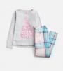 Z_ODRMINSNZ-PINKCHECK Pink and blue checked pajama  100% cotton 1 through 12