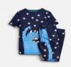 205153-NVSTRMNSTR Navy pajama with monster image  97% cotton 3% elastane 1 through 12
