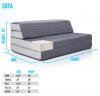 Recalled LUCID Folding Mattress-Sofa setup as a sofa.