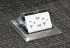 Recalled Garvin Pop-Up Floor Box Kit with stainless steel finish
